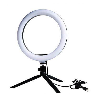 Кольцевая лампа 26 см. на маленьком штативе