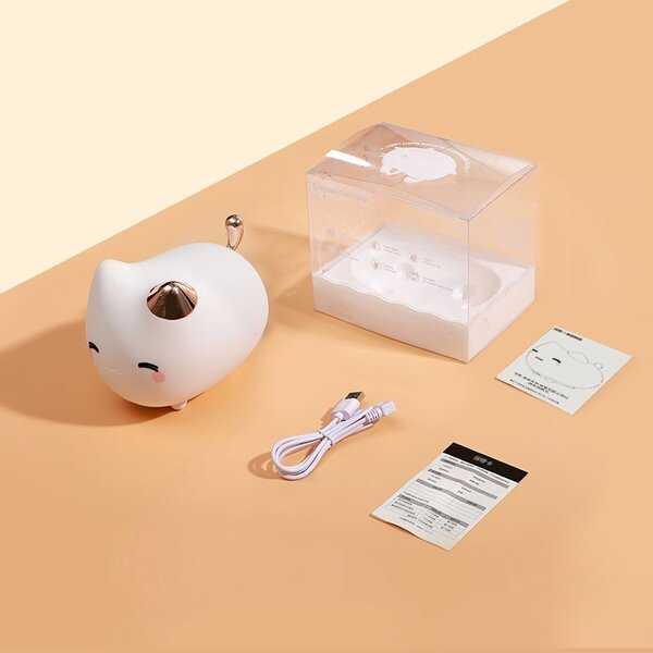 Светильник Baseus Cute Series Kitty Silicone Night Light White DGAM-A02