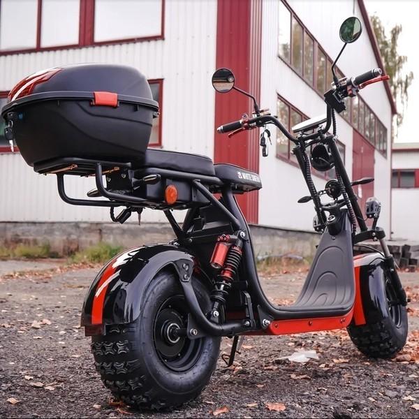 Электроскутер WS-PRO 2WD 4000w черный с красной полосой